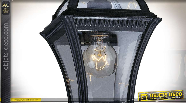 Lanterne extérieur suspendue en aluminium style rétro coloris noir