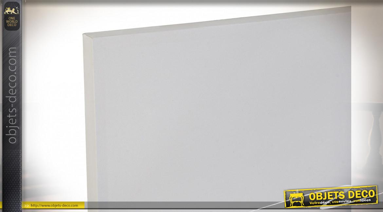 TABLEAU TOILE PAILLETTES 150X4,3X100 PONT GRIS