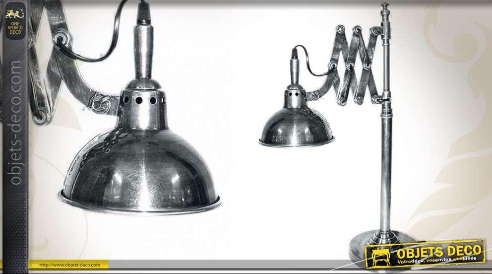 Lampe de bureau rétro de style industriel avec bras en accordéon
