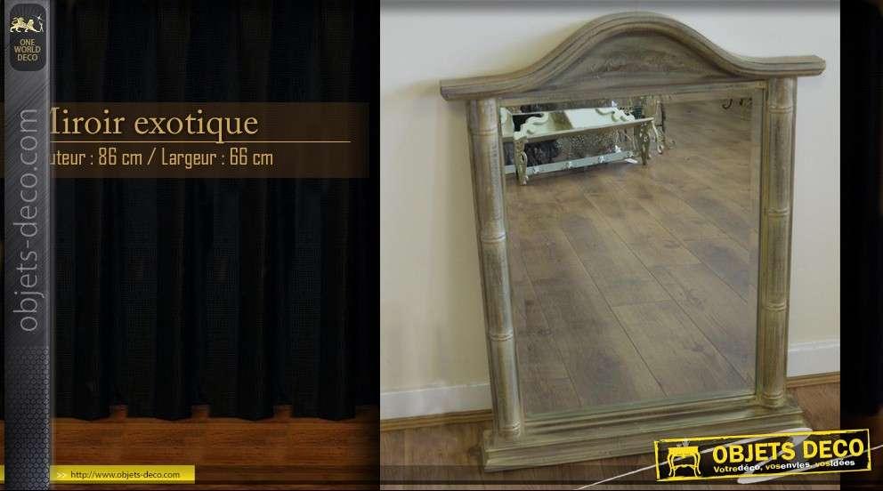 Miroir d co exotique 86 cm for Miroir exotique