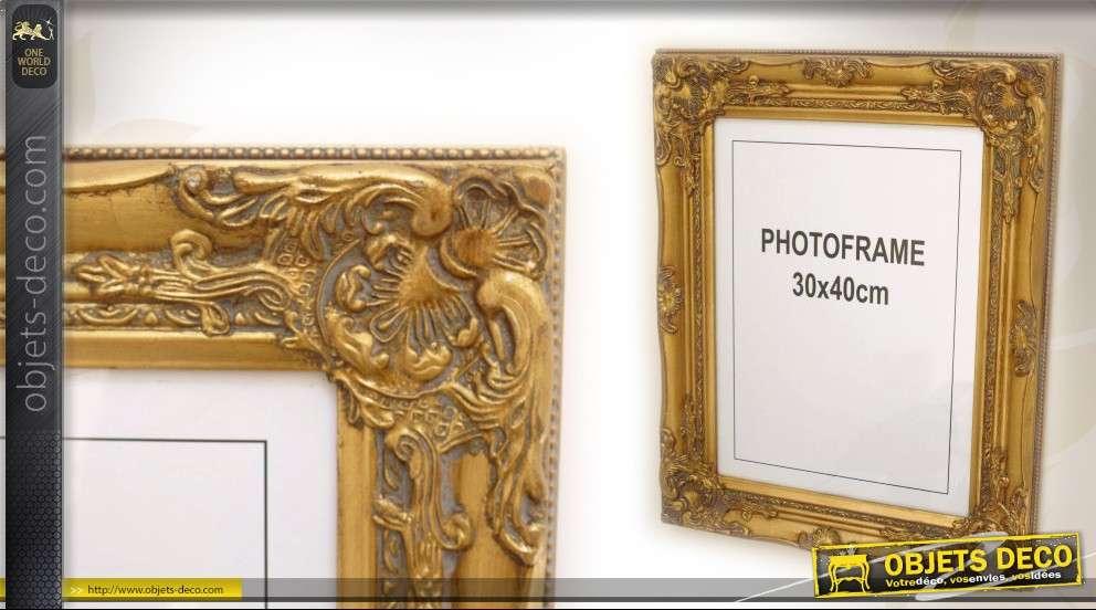 Cadre photo de style baroque finition vieil or