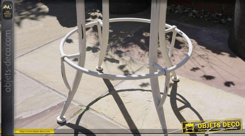 tabouret si ge de tracteur style r tro blanc antique. Black Bedroom Furniture Sets. Home Design Ideas