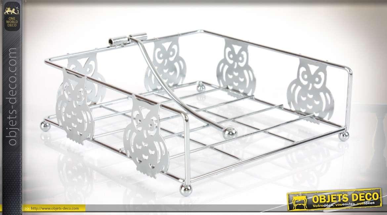porte serviettes de table en m tal finition chrom e. Black Bedroom Furniture Sets. Home Design Ideas