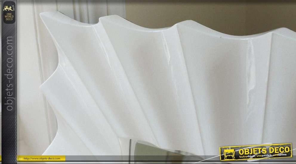 Grand miroir d coratif design laqu blanc - Miroir decoratif design ...
