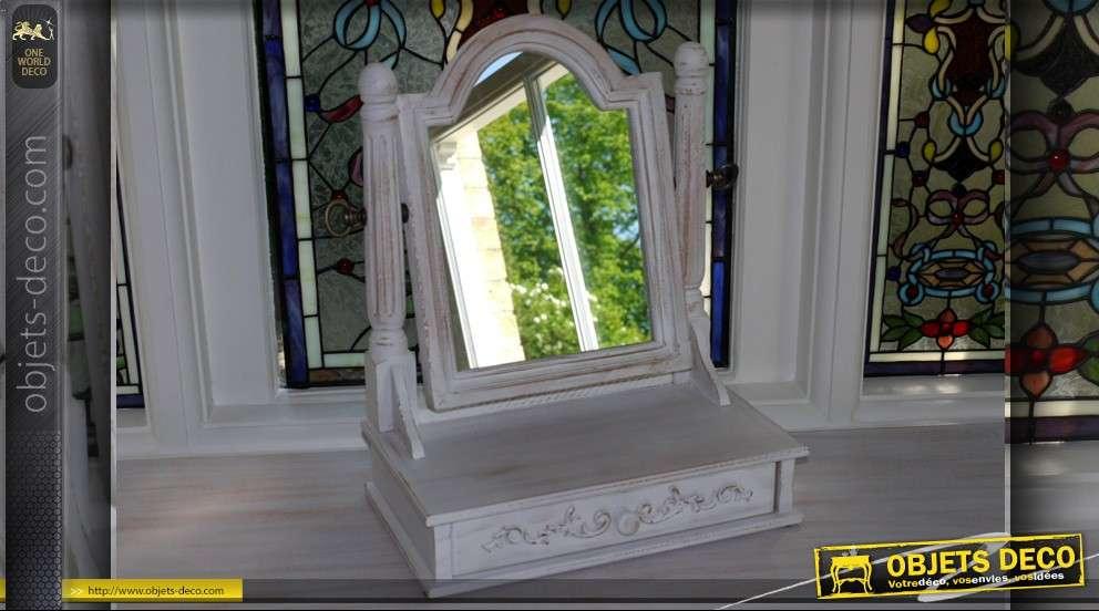 Miroir pour coiffeuse de style romantique avec fleurs et for Miroir pour coiffeuse
