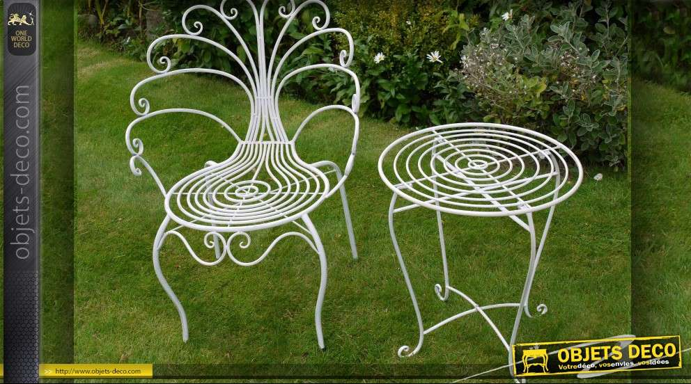Awesome Petite Table De Jardin Blanche Pictures - Amazing Design ...