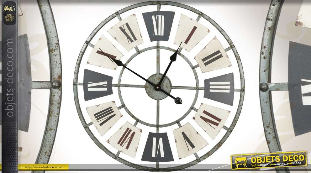 horloge murale en forme d 39 h lice d 39 avion 95 cm. Black Bedroom Furniture Sets. Home Design Ideas