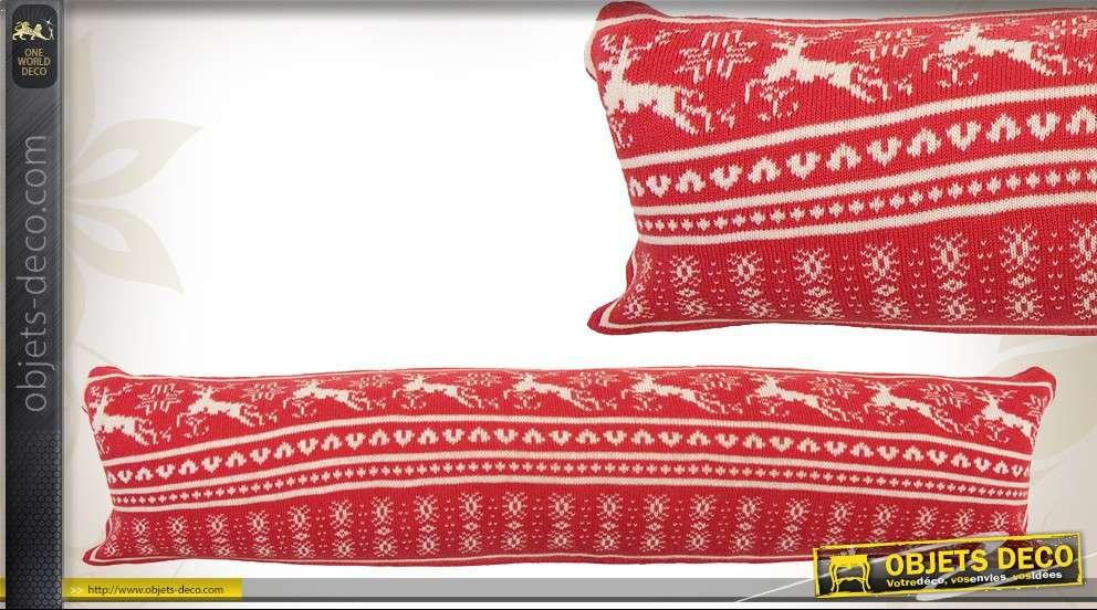 boudin bas de porte coloris rouge et blanc motifs f tes de. Black Bedroom Furniture Sets. Home Design Ideas
