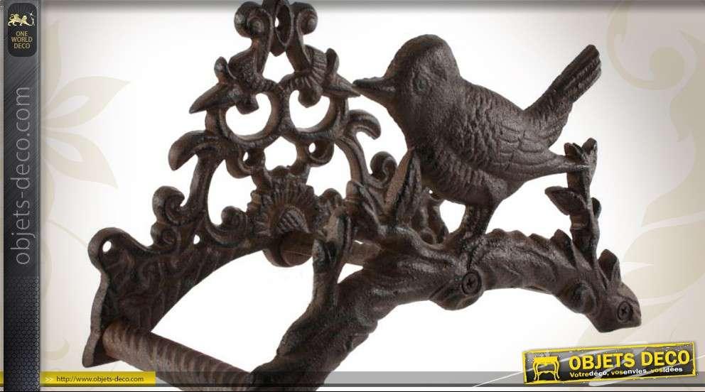 support mural en fonte pour tuyau d 39 arrosage motif oiseau. Black Bedroom Furniture Sets. Home Design Ideas