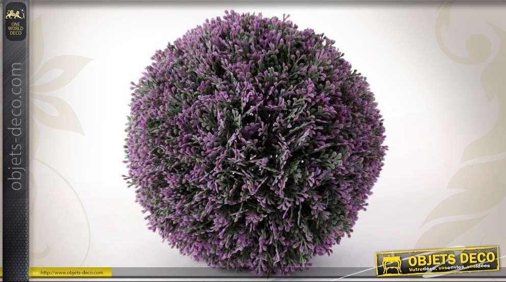 Boule artificielle de lavande d corative 18 cm for Plante boule artificielle