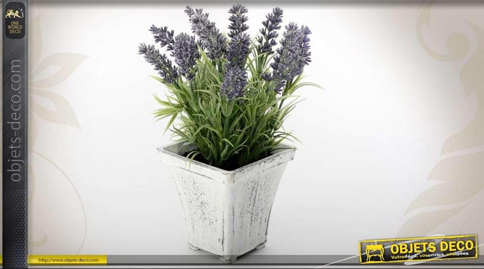pot de fleurs de lavande artificielle d corative. Black Bedroom Furniture Sets. Home Design Ideas