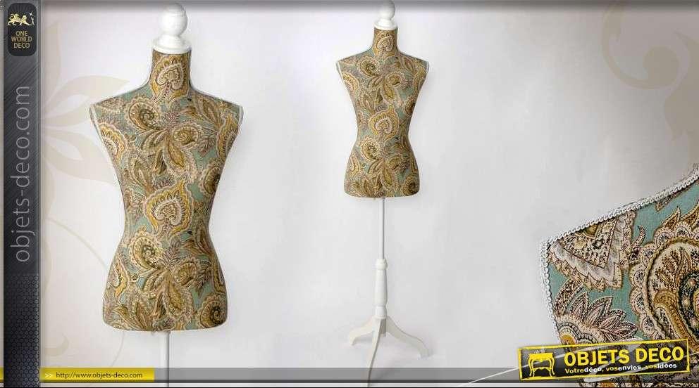 mannequin de couture d coratif motifs floraux style vintage. Black Bedroom Furniture Sets. Home Design Ideas