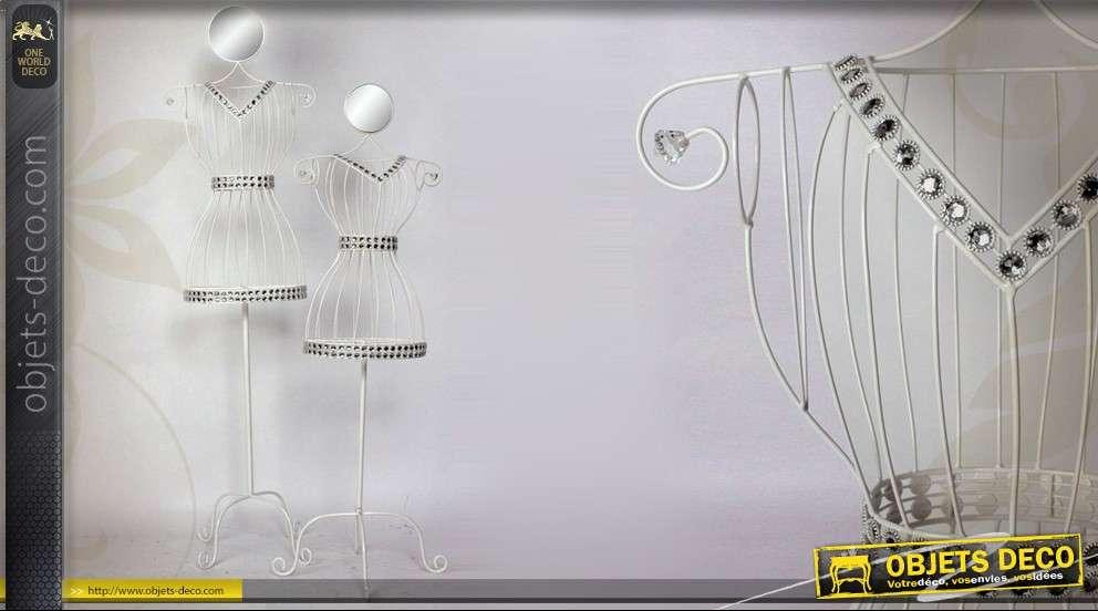 mannequin d coratif en m tal avec miroir et brillants. Black Bedroom Furniture Sets. Home Design Ideas