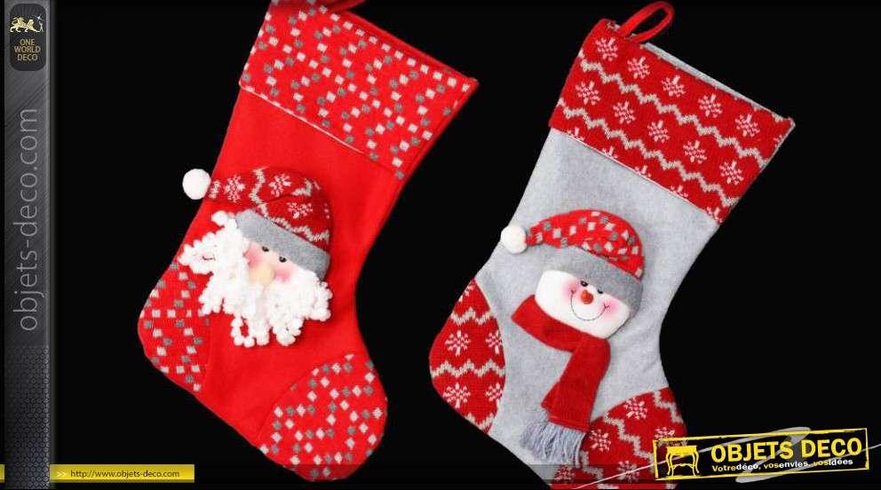 Chaussette De Noel A Suspendre Chaussettes de Noël à suspendre   Le lot de 2 chaussettes