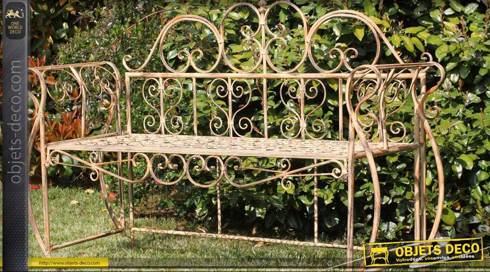 Banc baroque en fer forg for Baraque jardin