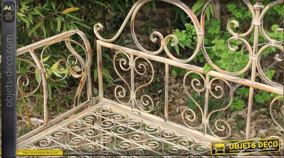 Banc baroque en fer forg for Objet deco jardin fer forge