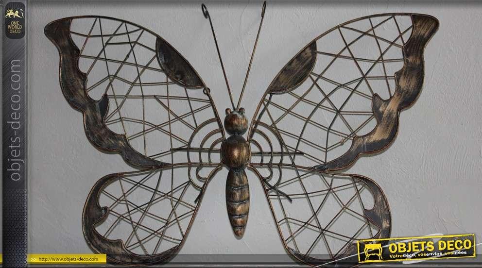 D coration murale en fer forg papillon - Decoration murale en fer ...