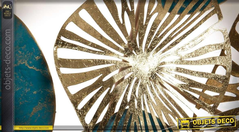 Décoration murale en métal 135cm style abstrait