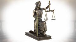 Statuette de la Justice finition bronze doré 24 cm