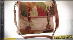 Sac besace en coton kilim style éthnique 35 cm