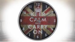Horloge murale en métal et acrylique style So British Ø 30 cm