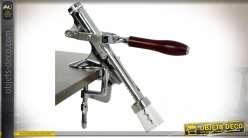 Tire-bouchons de table professionnel en métal chromé 32 cm