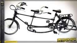 Reproduction en métal vélo tandem rétro 42 cm