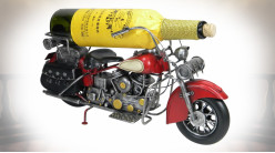 Support pour bouteille en forme d'ancienne moto style Harley 40 cm