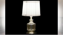 LAMPE DE TABLE VERRE POLYESTER 20X20X36 2 MOD.