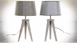 LAMPE DE TABLE PIN LIN 30X30X57,5 FEUILLE 2 MOD.