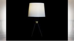 LAMPE DE TABLE MÉTAL POLYESTER 30X30X56 NOIR