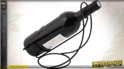 Support décoratif en métal pour bouteille à vin