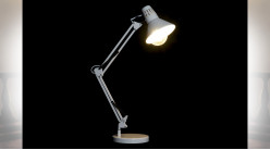 LAMPE DE TABLE MÉTAL 22X39X69 FLEXO BLANC