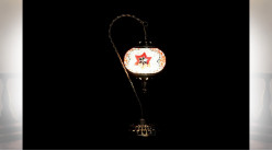 LAMPE DE TABLE VERRE MÉTAL 21X15X46 2 MOD.