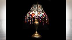 LAMPE DE TABLE MÉTAL ACRYLIQUE 34X34X52 DORÉ