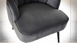 CHAISE POLYESTER MDF 67X67X83 GRIS