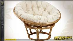 Coussin pour fauteuil papasan en rotin (loveuse) Ø 98 cm