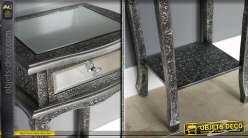 table de nuit style marocain avec miroir 2 tiroirs. Black Bedroom Furniture Sets. Home Design Ideas