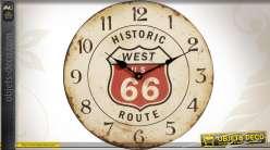 Horloge Route 66 style rétro et vintage Ø 33 cm