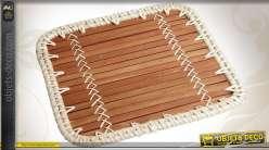 Dessous de plat en bambou et rotin