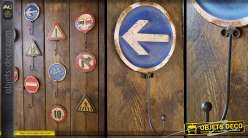 Crochet panneau de signalisation rétro : Sens obligatoire
