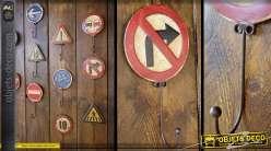 Crochet panneau signalisation rétro : Interdit de touner à droite