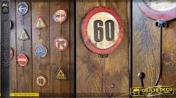 Crochet panneau de signalisation rétro : vitesse maxi 60 km/h