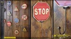 Crochet panneau de signalisation rétro : Stop