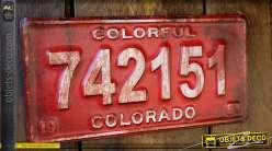 Déco murale métal ancienne plaque minéralogique US Colorado
