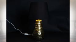 LAMPE DE TABLE CIRE LIN 38X38X65 DORÉ