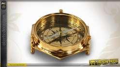 Boussole de table en laiton antique