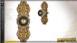 poigne de porte de style baroque finition vieil or