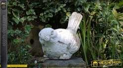 Statuette décorative d'oiseau pour intérieur ou extérieur