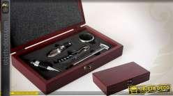 Coffret oenologie avec 5 accessoires